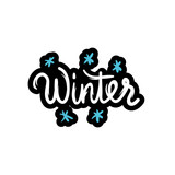 Winter text. Hand-lettering calligraphy - 175211155