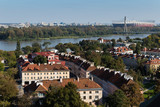 Warsaw city skyline, aerial view from the bell tower of the Saint Anne's church across the Vistula river - 175212169