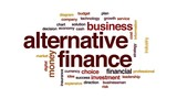 Alternative finance animated word cloud, text design animation. - 175213154