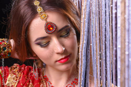 Poster beautiful hindu woman model