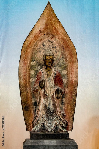 Spoed canvasdoek 2cm dik Boeddha Maitreya Buddha statue close up