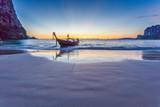 Railay plaży po zachodzie słońca