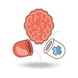 Brain of mental heath mind and peaceful theme Vector illustration - 175227772