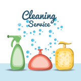 Detergent of cleaning service home work and hygiene theme Vector illustration - 175229145