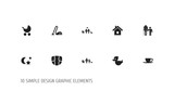 Set Of 10 Editable Folks Icons. Includes Symbols Such As Midnight, Family Dynasty, Bath Toys And More. Can Be Used For Web, Mobile, UI And Infographic Design. - 175229336