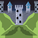Castle of palace medieval and fairytale theme Vector illustration - 175230932