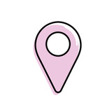 location symbol to search in the map icon - 175234117