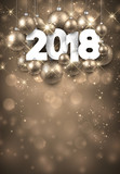 Golden 2018 New Year background. - 175237982