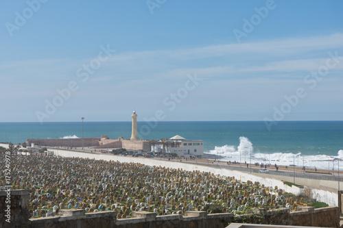 Friedhof am Meer in Casablanca Poster
