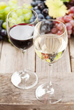 Wine glasses and grapes - 175252760