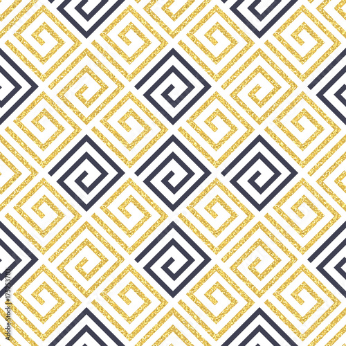 Gold glitter seamless pattern. Vector - 175253703