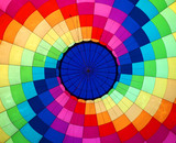 Multi colored hot air balloon view from inside  - 175254990