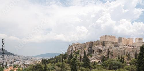 Foto op Canvas Wit Acropolis