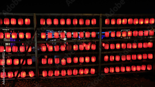 Deurstickers Peking Houhai's red lanterns 2