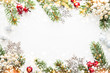 Christmas and New Year holiday background. Xmas greeting card. Glitter bokeh light