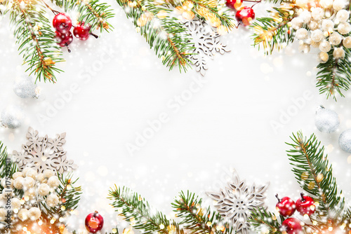Christmas and New Year holiday background плакат