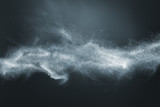 Abstract design of white powder snow cloud - 175258520