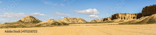 Fototapeta the desert of the Bardenas Reales in the Spanish province of Navarre