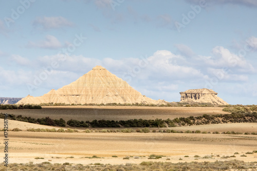 the desert of the Bardenas Reales in the Spanish province of Navarre