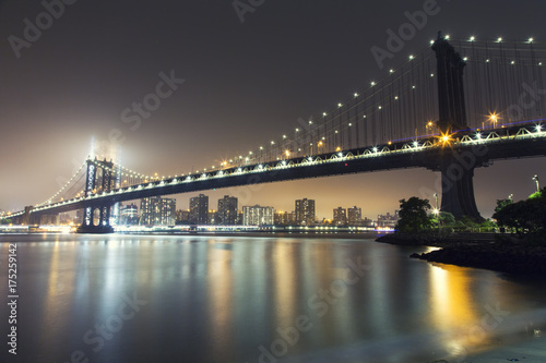 Tuinposter New York New York, Manhattan Bridge