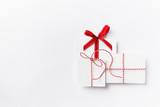 Symbolic paper Christmas Presents with ribbons - 175261704