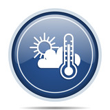 Weather forecast blue round web icon. Circle isolated internet button for webdesign and smartphone applications. - 175262570