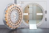 Open Bank Vault Door, 3D rendering - 175263765