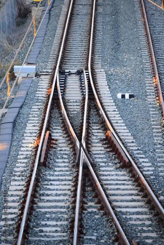 Papiers peints Voies ferrées Eisenbahnschienen in Spanien