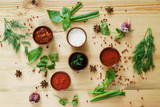 different kind of sauces - 175265185