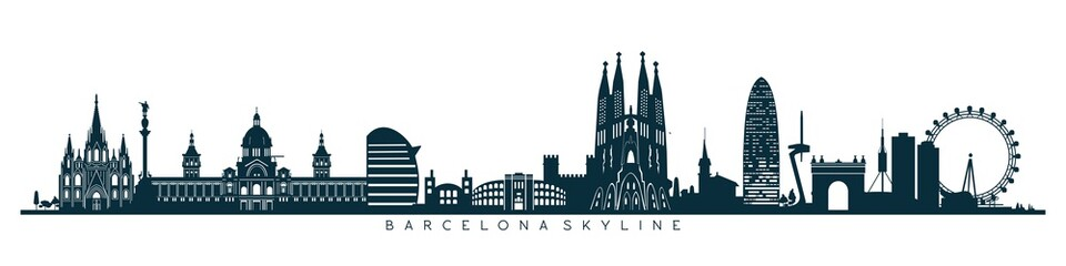 Barcelona skyline, horizon © tatoman