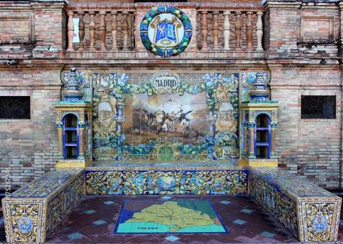 Banc sur la place d'Espagne (Séville - Espagne)