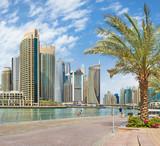DUBAI, UAE - MARCH 24, 2017: The skyscrapers of Marina and the promenade. - 175267786