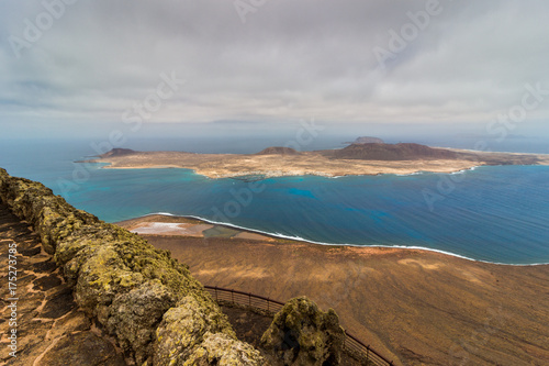 Deurstickers Canarische Eilanden View on Graciosa from Lanzarote