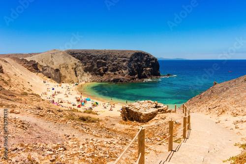 Deurstickers Canarische Eilanden Papagayo Beach Lanzarote