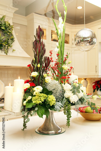Christmas floral arrangement Poster