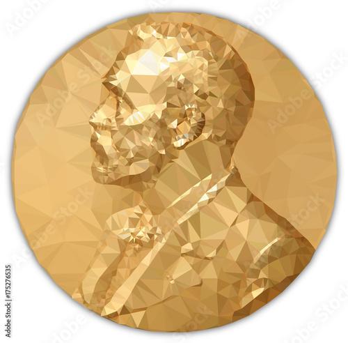 Złoty Medal Nobla, opracowanie graficzne do wielokątów