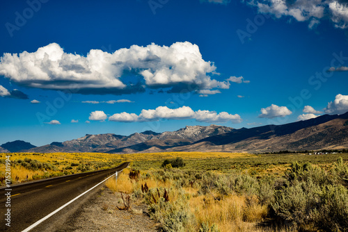 Foto op Canvas Nachtblauw Ruby Mountains Nevada