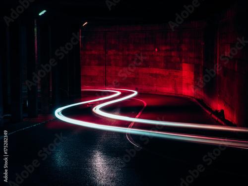Plexiglas Nacht snelweg Rastres
