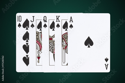 royal flush spades flourish Poster