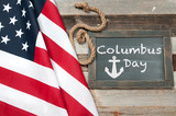 Happy Columbus Day. United States flag. - 175290583