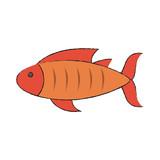 Delicious fresh fish icon vector illustration graphic design - 175294522