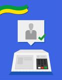 Electronic machine Brazilian voting candidate illustration - 175296169
