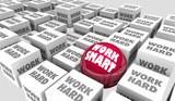 Work Smart Vs Hard Better Process System Procedure Efficiency 3d Illustration - 175301157