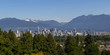 Vancouver BC City Skyline and Mountains View Canada