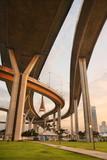 The curve of suspension bridge in Thailand1 - 175304510