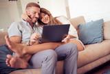 Couple having fun at home - 175307310