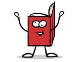 Rotes Buch als lustiger Cartoon Charakter - 175317378