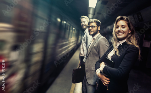 Business people waiting for subway - 175322588