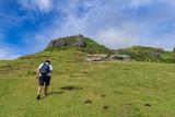 Sep 21,2017 Tourist walking at Sabtang Hill, Sabtang island, Batanes - 175322704