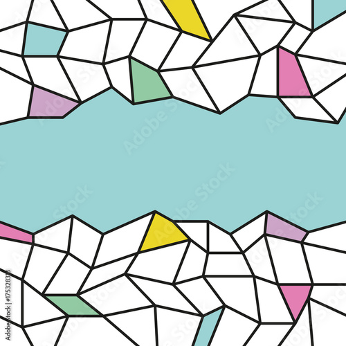 Abstract background template trendy flat style vector © alvaroc